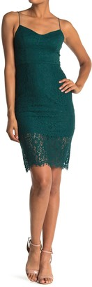 Lush Sweetheart Lace Sheath Dress