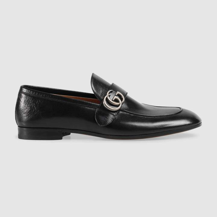 Gucci Leather loafer with GG