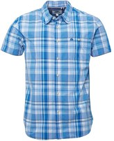 Kangaroo Poo Mens Yarn Dyed Checked Short Sleeve Shirt Blue Multi