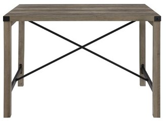 "Foundry Select Arsenault 48"" Industrial Farmhouse Dining Table Color: Gray Wash"