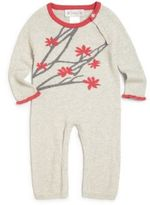 Lucky Jade Baby's Cotton & Cashmere Jasmine Flower Coverall