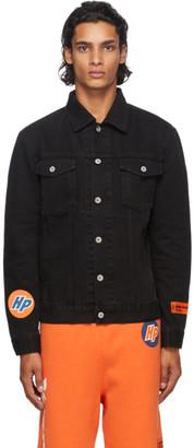Heron Preston Black Vintage Denim Techno Trucker Jacket
