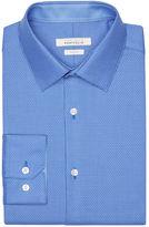 Perry Ellis Slim Fit Mini Dobby Dress Shirt