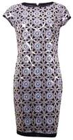 Vince Camuto Women's Sequin Geometric Dress (2 Black/Gold)