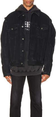Balenciaga Biker Jacket in Midnight Blue | FWRD