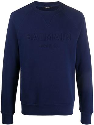 Balmain Logo-Debossed Sweatshirt