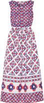Vika Gazinskaya Printed cotton-matelassé midi dress