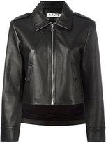 Aalto cropped jacket - women - Lamb Skin/Rayon - 36