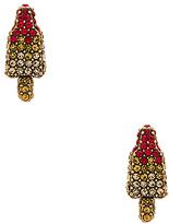Marc Jacobs Rocket Lolli Studs in Metallic Gold.
