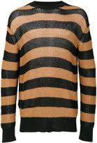 McQ by Alexander McQueen stripped knitted jumper - men - Cotton/Linen/Flax - S