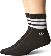 adidas Men's Textured Quarter Socks (Pack of 2)