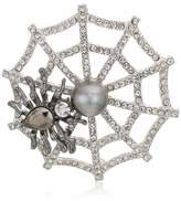 Napier Women's Box Hematite Jet Spider Web Pin One Size