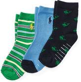 Ralph Lauren Cotton-Blend Sock 3-Pack