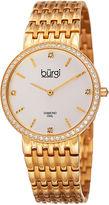 Burgi Womens Gold Tone Bracelet Watch-B-138yg
