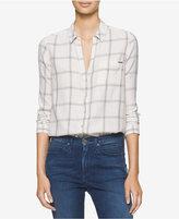 Calvin Klein Jeans High-Low Plaid Shirt