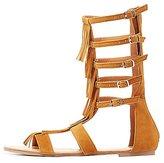 Charlotte Russe Fringed Gladiator Sandals