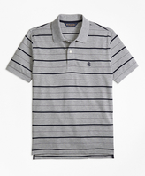 Brooks Brothers Slim Fit Undercollar Detail Stripe Polo Shirt