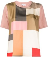 Pierre Louis Mascia patchwork geometric-print T-shirt