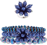 Monsoon Pearl Flower Multipack Bracelet And Ring