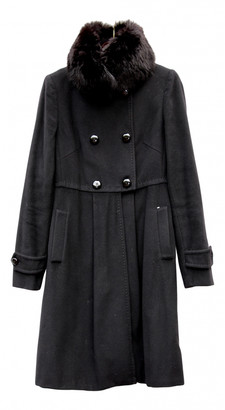 Sportmax Black Wool Coats