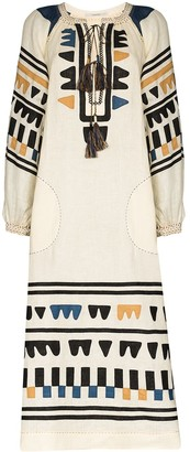 Vita Kin Shalimar embroidered kaftan dress