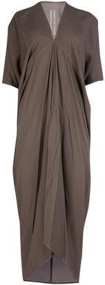 Rick Owens V-Neck Asymmetric Dress