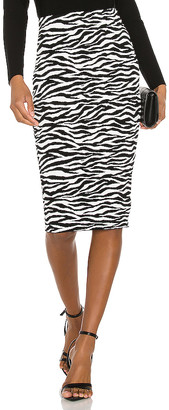 Milly Zebra Midi Skirt