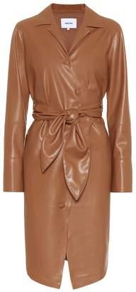 Nanushka Ailsa faux leather shirt dress
