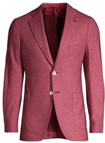 Isaia Jersey Wool Jacket