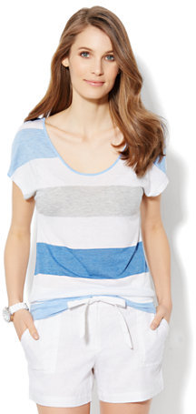 New York & Co. Love, NY&C Collection - Dolman-Sleeve Stripe Top
