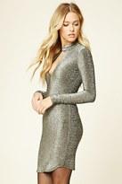 Forever 21 FOREVER 21+ Contemporary Glitter Knit Dress