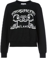 Moschino elephant cable knit sweater - women - Cotton/Polyester - S