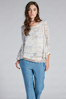 Gold Hawk Monet Floral Long Sleeve Top
