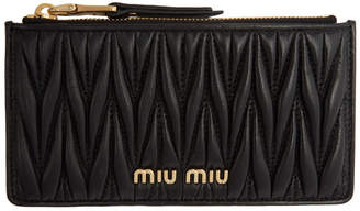 Miu Miu Black Matelasse Card Holder