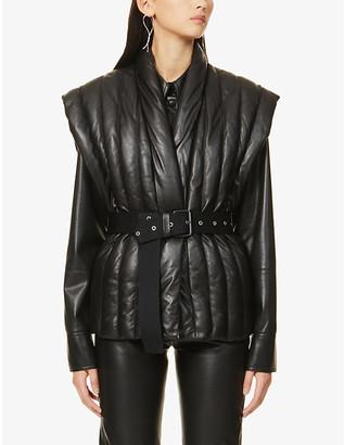 Isabel Marant Ajali quilted leather gilet