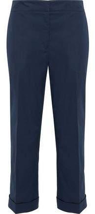 Jil Sander Cropped Stretch-Cotton Straight-Leg Pants