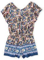 Copper Key Little Girls 4-6X Flutter-Sleeve Floral Romper