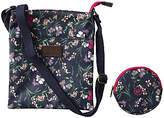 Fat Face Girls' Floral Bag and Purse, Navy