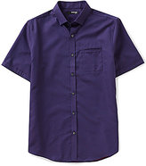 Murano San Francisco Collection Short-Sleeve Slim-Fit Button-Down Quilted Dobby Shirt