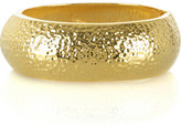 Hammered gold plated bangle