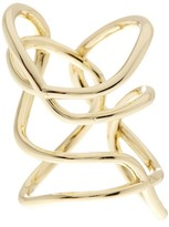 Ariella Collection Lines Wrap Wire Ring