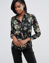 Oasis Floral Print Pajama Shirt