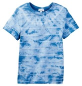 Splendid Short Sleeve Crew Tie Dye Stripe Tee (Toddler Boys)