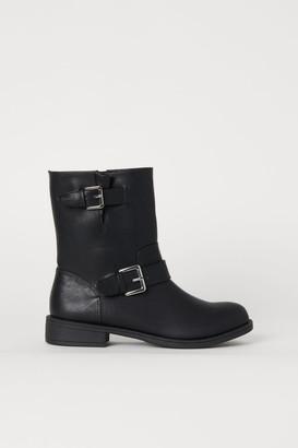 H&M Biker Boots - Black