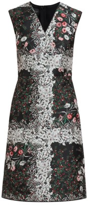 Giambattista Valli Floral Jacquard Sheath Dress