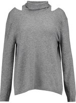 Halston Cutout Wool And Cashmere-Blend Sweater