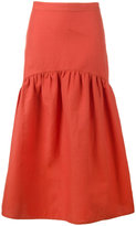 Maryam Nassir Zadeh Cala one tier skirt - women - Cotton/Linen/Flax - 2