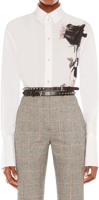 Alexander McQueen Floral-Print Long-Sleeve Shirt
