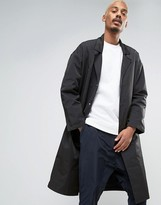 Asos Oversized Overcoat in Black