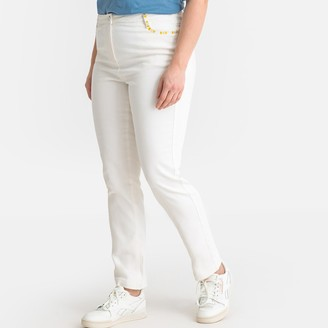 "Castaluna Plus Size Embroidered Regular Straight Jeans, Length 30.5"""